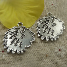 54 pieces tibetan silver nice charms 31x27x2mm #4431