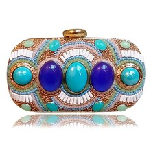 2015New European women beaded evening bag small acrylic bags vintage bags evening dress for wedding
