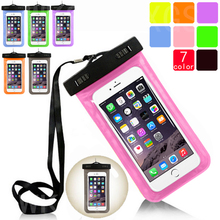 Transparent Waterproof Underwater Pouch Dry Bag Case Cover For Apple iPhone 5 5G 5S 5SE Cell Phone Touchscreen Mobile Phone