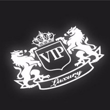 1PC 14*11cm 2017 New Style Car Stickers VIP The Lion Reflective Vinyl Car Styling  for Truck Decor Car Body Car Accessories