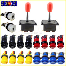 Arcade Button Electronics Games Set of Arcade Stick Joystick for Arcade Console Kit Part Replacement