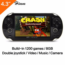 "Handheld Game Players 8gb Double Rocker 4.3"" MP4 Player Video Free Download Game Camera Game Console TV Out Game Player Mic(China)"