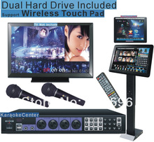 "Dual Hard Drive Karaoke Jukebox 5TB HD System with More Songs +19""Touch Screen HIGH END, HDMI output ,support Android Tablets"