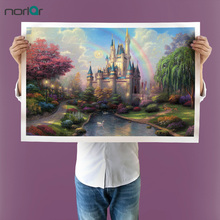 Thomas Kinkade Castle and Woods HD Canvas Print Home Decoration Living Room bedroom Wall pictures Art painting NO Frame