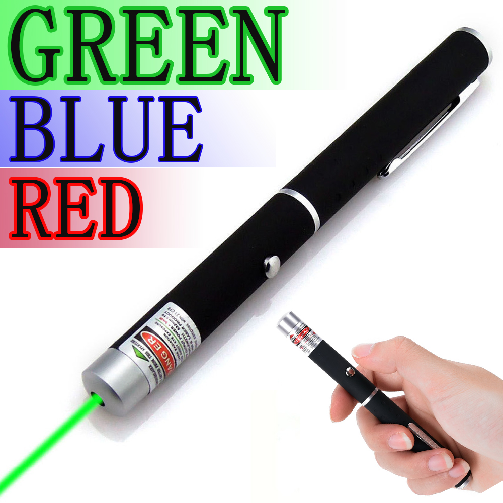 High Quality Powerful Green/Red /Blue Laser Pointer Pen Beam Light 5mW Caneta Laser<br><br>Aliexpress