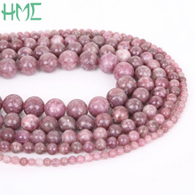 New arrival Wholesale Natural Lepidolite Stone Beads With A High Quality Round Ball 4/6/8/10/12MM Making DIY Bracelet Necklace