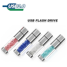 Lipstick usb flash drive 4GB 8GB 16GB 32GB crystal Jewelry creative u disk pen drive pendrive memory card disk