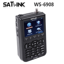"[Genuine] Satlink WS-6908 3.5"" DVB-S FTA digital satellite meter satellite finder ws 6908 satlink ws6908 better than 6906"