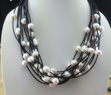 ZCD  Necklace  515+++ 12 root cord, special beads, natural freshwater pearl necklace, 50CM