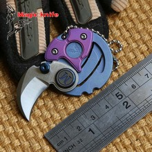 magic knife newest Coin folding knives D2 blade TC4 Titanium handle outdoor tactical Survival camping hunting EDC tools