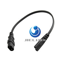 "High Quality European IEC320 C7 Female to C8 Male Plug Extension Cord,C7/C8 Power ""8"" Figure Adapter Converter Cable,30CM,10 pcs"