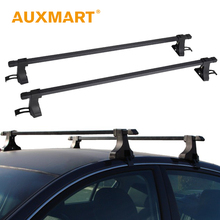 "Auxmart Universal Car Roof Rack Cross Bars 48""~50"" Auto Roof Rails Racks Boxes Load Carrier Cargo fit truck SUV 75LBS/35KG(China)"