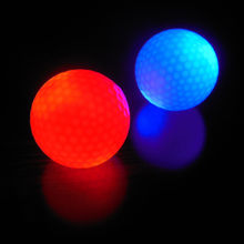 1PC Night Light Glowing Fluorescence Training Golf Balls Light-up Luminous Night Light Up Glow Golf Ball