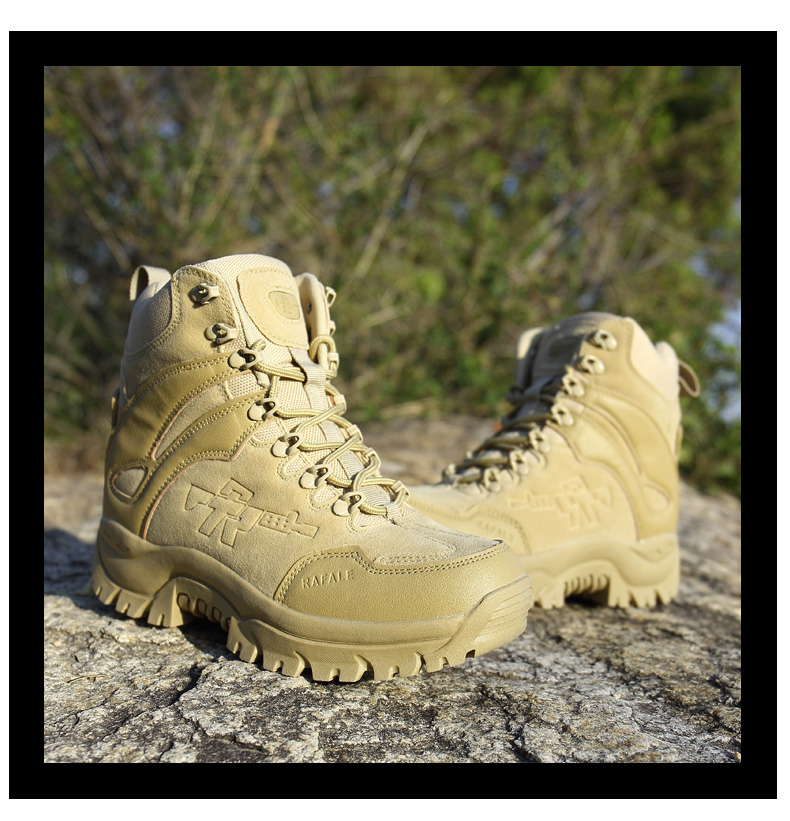 Brand Men's Boots Military boot Chukka Ankle Bot Tactical Big Size Army Male Shoes Safety Combat Mens Motocycle Boots (17)