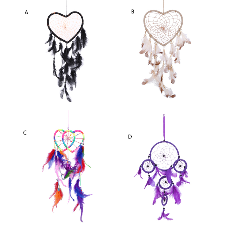 Handmade Heart Shape Dream Catcher Circular Net With Feather Beads Enchanting Different Types Of Dream Catchers And Their Meanings