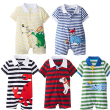 Buy Newborn Baby Rompers Summer Baby Boys Clothes Cute Cartoon Baby Boys Girls Rompers Short Sleeve Polo Rompers Baby Girls Clothes for $6.38 in AliExpress store