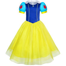 Sunny Fashion Girls Dress Snow White Princess Cartoon Party Costume Ball 2018 Summer Wedding Dresses Clothes Size 3-14(China)
