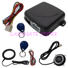 Universal RFID Car Alarm System With Smart Push Start Button &Transponder Immobilizer Keyless Go System Carsmate(China)