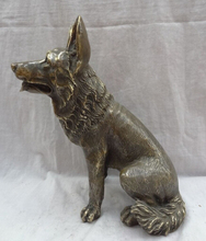 "Free shipping  001867 12"" Chinese Year Zodiac Bronze Animals Sculpture Set Wealth Wolf Dog Statue"