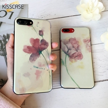 Buy KISSCASE New Ink Painting Phone Case iPhone 7 8 Cover iPhone X 8 6 6S Plus 7 Plus Cases Blue Light Soft Silicone Capinha for $2.23 in AliExpress store
