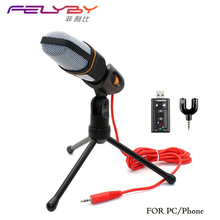 Professional Condenser Microphone Sound Podcast Studio Microfone for PC and phone Laptop Office meeting Speech Skype MSN Karaoke