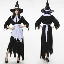 White Black Dark Devil Fallen Angel Costume Women Sexy Halloween Party Adult Gothic Witch Costume Fancy Dress(China)