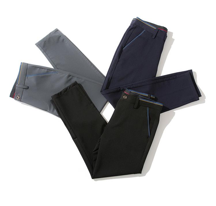 2018 Pring Summer Brand Clothing Men Casual Pants Business Slim Fit Elastic Ankle-length Pants Men's Skinny Pants Men Trousers 13