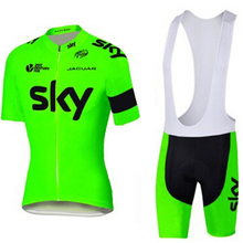 Fluorescence sky cycling jersey gel pad bike shorts Ropa Ciclismo quick dry pro bike wear mens bicycling Maillot Culotte