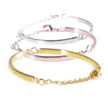 10pcs  Fasion Adjustable Curved Connector Bracelet Bangle For DIY Bracelet Findings Jewelry Accessory