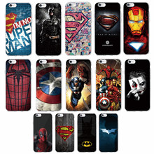 For iPhone 7 7Plus 6 6S 6Plus 5 5S SAMSUNG Superman Batman Iron Man Deadpool Spider Man Joker Avenger Soft Phone Case Fundas
