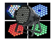 54x1W RGBW Quad colors Led Stage par64 Light High Power With DMX512 Master Slave DJ Equipments Controller