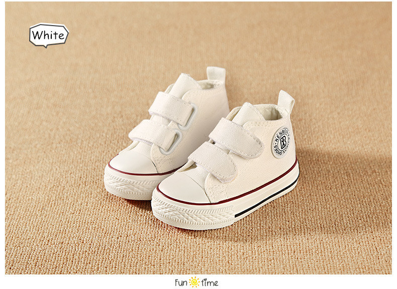 Baby shoes Girl Children Canvas shoes Boys 17 Spring Autumn Fashion High Cotton-made Baby girl little kids shoes 15