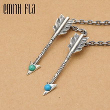 Buy Genuine 925 Sterling Silver Vintage Punk Thai Silver Feather Bow Pendant Women Men Necklace Jewelry for $14.98 in AliExpress store