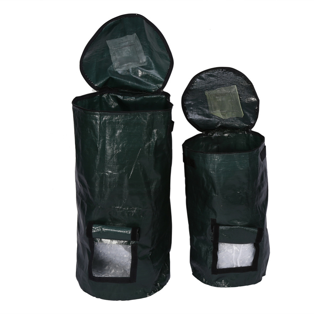 Plant Bag Probiotics Bags Organic Waste Garden Yard Compost Bag Organic Fertilizer Bagshipping Environmental PE Cloth Planter(Hong Kong)