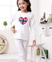 Retail Girl's Pajamas Sets 100% Cotton for Spring & Autumn 2017 New Children's Sleepwear Pyjamas Set for Teenage Girls Underwear