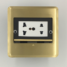 High Quality All Copper Panel Universal Floor Socket Electrical Outlet()