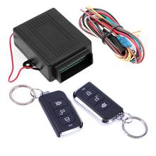 Universal Alarm Systems Car Remote Central Kit Door Lock Locking Vehicle Keyless Entry System With Remote Controllers(China)
