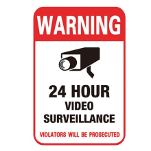 10pcs 24H CCTV Video Camera Warning Signs Conspicuous Wall Sticker Surveillance Monitor Decal Public Area Home Security Supplies(China)