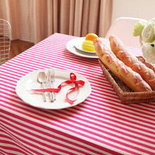 hot sale striped tablecloth 2017 new high quality pastoral home decorative dinning table cloth waterproof table cover tea cover