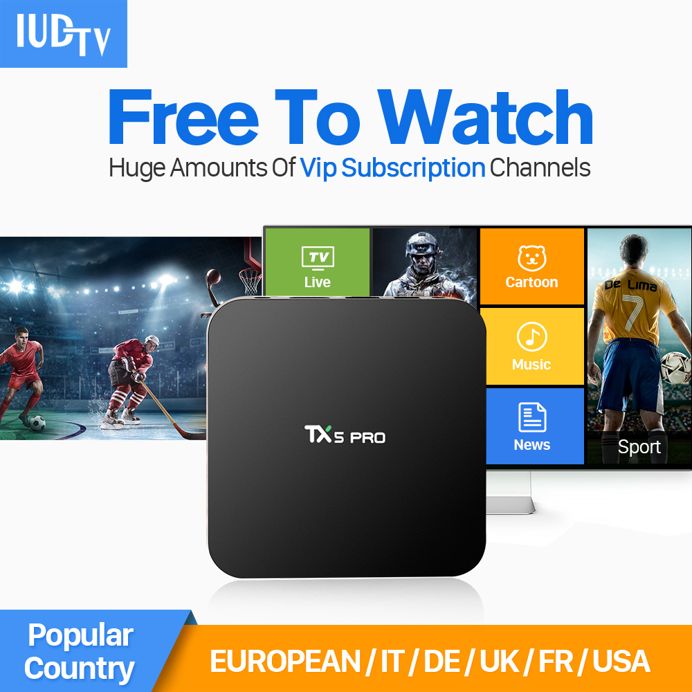 TX5 Pro Android IPTV STB S905X Quad Core Smart TV Receivers Set-top Box IUDTV Abaric iptv Channels Subscription 1 year Europe(China (Mainland))