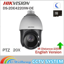 Buy stock Hikvision Original English 2MP PTZ DS-2DE4220IW-DE PTZ IP camera CCTV security Surveillance POE ONVIF POE CCTV Camera for $359.00 in AliExpress store