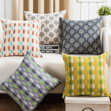 Green Pine Gray Cushion Covers Creative Geometric Printed Throw Pillowcase for Sofa Car Home Decoration Square Almofadas KDT1330