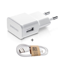 2A Original Samsung Wall Travel Charger For Samsung Note2 S3 S4 Charging Cargador Adapter EU Plug 1M Micro USB Charger Adapter