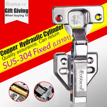 SUS 304 Stainless Hinges,furniture Accessories Hardware Cabinets Box Door Cupboard Brass Hydraulic Damper Soft Close,fixed Type