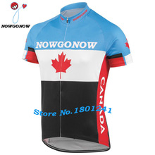 Men 2017 cycling jersey CANADA red blue black Flag bike clothing ropa ciclismo riding100% Polyester pro racing team nowgonow