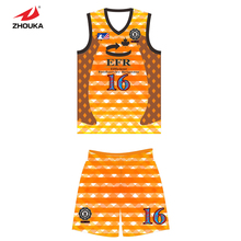 2016 Latest Design breathable and comfortable basketball uniform