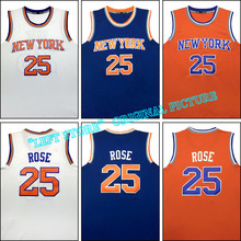 New Men jersey Derrick Rose #25 embroidery #7 Carmelo Anthony jersey Kristaps Porzingis basketball jersey Free Shipping