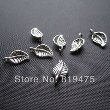 (20 pieces /lot) small leaf  anti-silver color zinc alloy  connecters  jewelry findings for jewelry making  P4