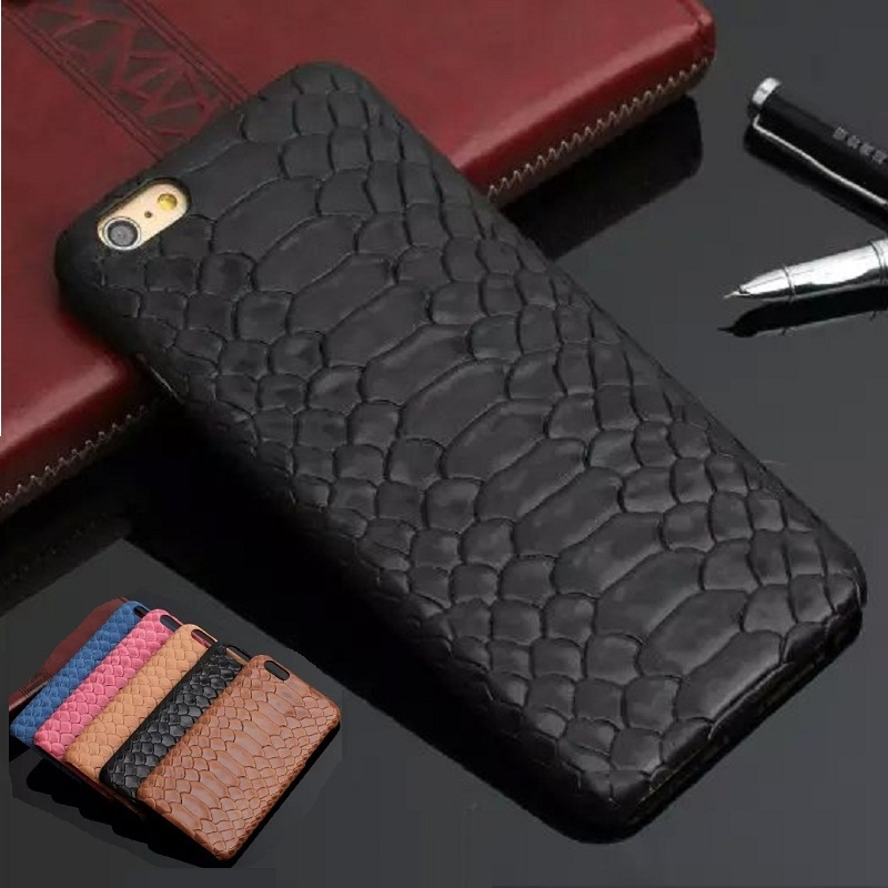 Natural Real Genuine Cow Leather Cover Case For iPhone 7 Plus 7Plus Case 3D Python Snake Skin Design Mobile Phone Cases Solque(China (Mainland))