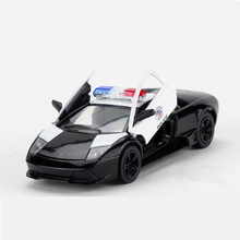 Emulational 1:36 Sports Car Toys For Children, KINSMART Police Cars Model / Brinquedos, Collectible Pull Back Police Toy Car